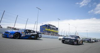 HAGERSVILLE, ON - JUNE 2: The APC 200 of the NASCAR Pinty's Series at Jukasa Motor Speedway in Hagersville, ON. (Photo by Matthew Manor for NASCAR)