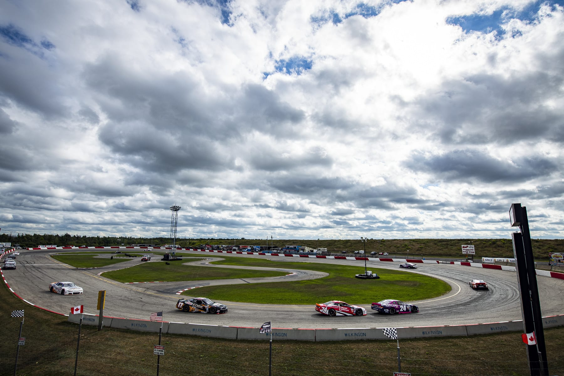 HAMILTON, ON - AUGUST 29: The NASCAR Pinty's series at Flamboro Speedway in Hamilton, Ontario, Canada on Saturday, August 29, 2020. (Photo by Matthew Manor/NASCAR)