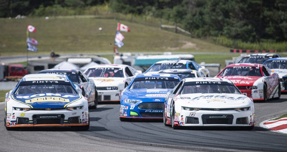 BOWMANVILLE, ON - AUGUST 25: The Total Quartz 200 of the NASCAR Pinty's Series at Canadian Tire Motorsport Park in Bowmanville, ON. (Photo by Matthew Manor for NASCAR)